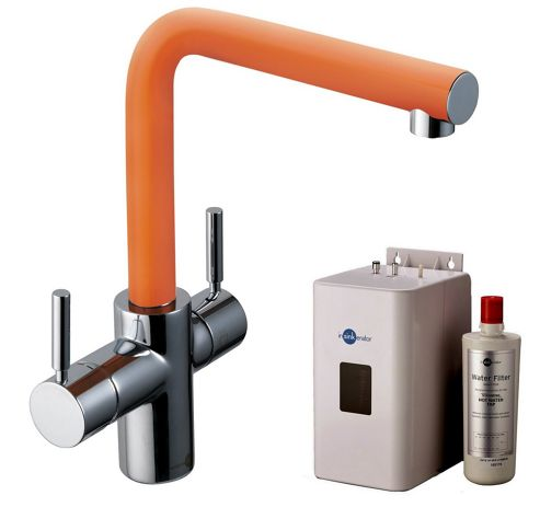 Orange Insinkerator 3N1 Instant Hot Tap | 3in1 Mains Hot & Cold with Instant Hot Tap Complete with NEO Tank & Filter
