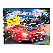 Create Your Monster Cars Colouring Book