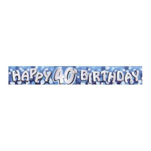 Party - Happy 40th Birthday Foil Banner - Amscan