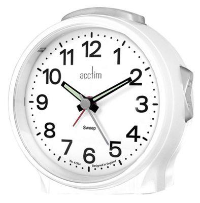 Acctim 15572 Elsie Sweep Alarm Clock in White