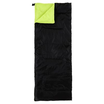 Tesco 250gsm Rectangular Single Sleeping Bag Black