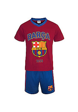 FC Barcelona Boys Short Pyjamas - Red