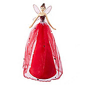 Red Fairy Christmas Tree Topper