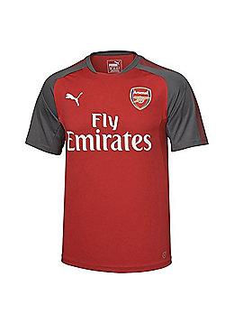 Puma Arsenal 2017/18 Mens Home Short Sleeve Football Training Shirt - L - Red