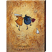 Sam Toft Carrying On Regardless Canvas Print