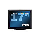 Iiyama ProLite T1731SAW 15 inch LCD Monitor Touchscreen 1000:1 230cd/m2 1280x1024 5ms D-Sub/DVI-D/USB/RS-232C (Black)