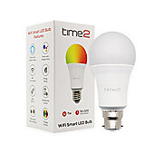 time2 WIFI LED Smart Light Bulb (Amazon Alexa & Google Home compatible) 7W B22 Bayonet fitting