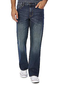 F&F Vintage-Look Bootcut Jeans - Indigo