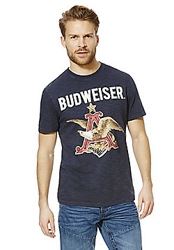 Budweiser Eagle Graphic Vintage Style T-Shirt - Navy