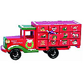 Wooden Christmas Advent Calander Truck Red - Fill Your Own