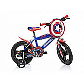 Captain America 16inch Bicycle Red - DINO Bikes