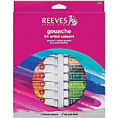 Reeves 10ml Gouache Colour 24 Tube Set - Art Store