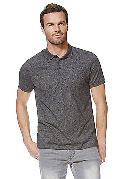 F&F Marl Polo Shirt - Charcoal grey