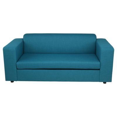 Stanza Fabric Sofa Bed, 2 Seater Sofa Teal