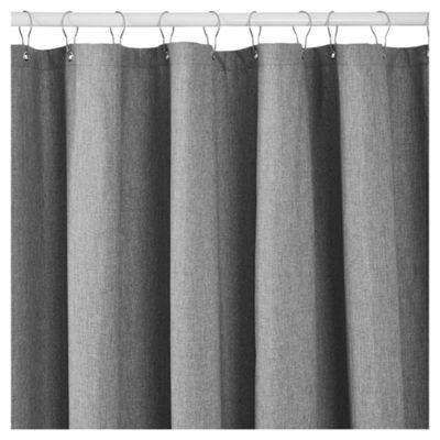 TESCO GREY SHOWER CURTAIN
