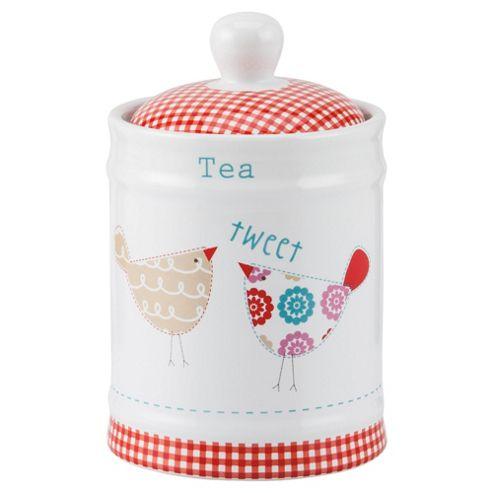 Tesco Tweet Tea Canister