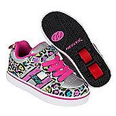 Heelys X2 Silver Cheetah Bolt Skate Shoes - Size 2