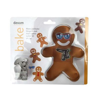 Dexam Make & Bake Gingerbread Cookie Cutter Set, 10 Piece
