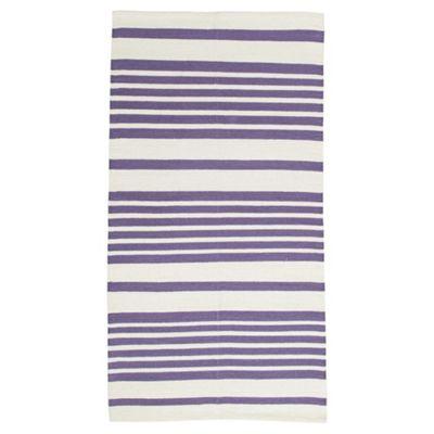 Tesco Cotton Stripe Runner Navy 60X200cm