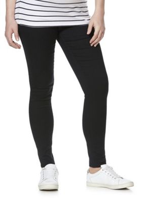 F&F Under-Bump Maternity Jeggings Black 6 Regular leg
