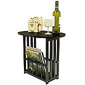Haughton - Swivel Top Side / End Table With Storage Rack - Dark Oak