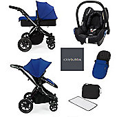 ickle bubba Stomp V3 Maxi Cosi All in One Travel System - Blue (Black Chassis)