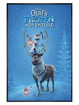 Olaf's Frozen Adventure Gloss Black Framed Poster 61 x 91.5cm