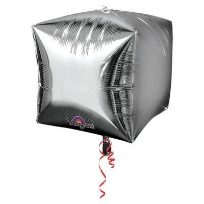 Cubez Silver Cube Shaped Balloon - 24 inch Foil