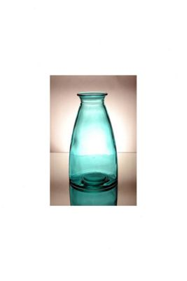 San Miguel Coloured Glass 30cm Vase in Blue