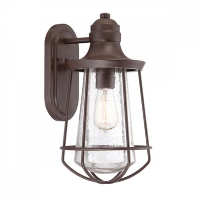 Western Bronze 1lt Medium Wall Lantern - 1 x 60W E27
