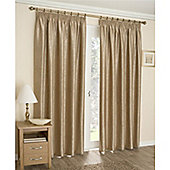 Enhanced Living Apollo Lined Pencil Pleat Curtains - Gold