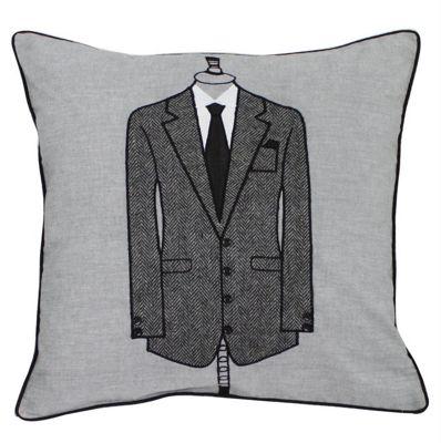Black Tie Sharp Suit Cushion Vintage Style Soft and Stylish