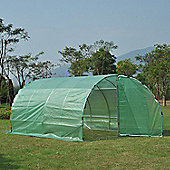 Outsunny Large Greenhouse PE cloth Walk In Two Doors Plant House Steel Frame (400L x 300W x 200H (cm))