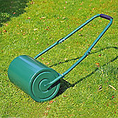Outsunny Garden Steel Lawn Roller Water or Sand Filled 30 Litres Green