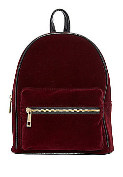 F&F Velvet Mini Backpack