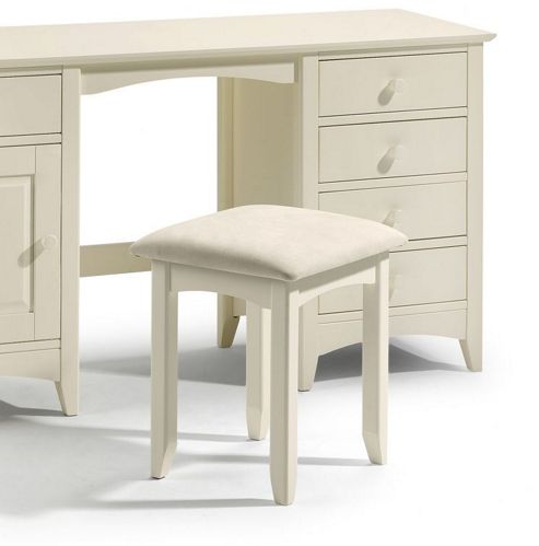 Julian Bowen Cameo Dressing Table Stool in Off White