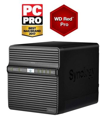 Synology DiskStation DS418j/24TB-RED PRO powerful entry-level 4-bay 24TB(4x6TB WD RED PRO) NAS