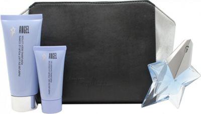 Thierry Mugler Angel Gift Set 25ml EDP + 100ml Perfumed Body Lotion + 30ml Perfuming Shower Gel + Purse For Women