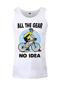All The Gear No Idea Men's White Vest - White