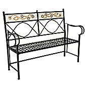 Charles Bentley Garden 2-3 Seat Terracotta Flower Mosaic Bench