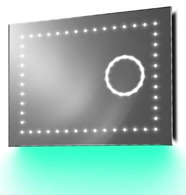 Slimline Magnification Mirror with Ambient Under Lighting, Demist & Sensor k100t