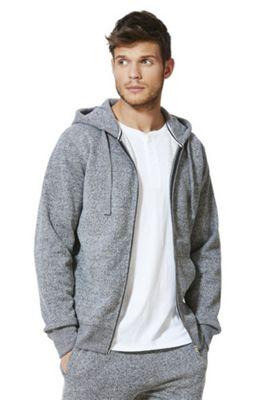 F&F Zip-Through Hoodie Grey S