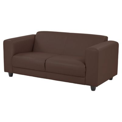 Camden Faux Leather Medium 2.5 Seater Sofa, Chocolate