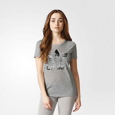 adidas Performance Womens Graphic Trefoil Print T-Shirt - 6