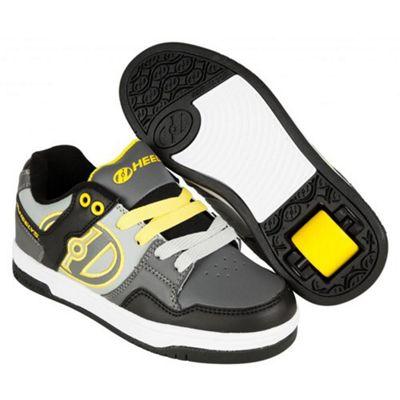 Heelys Flow Black/Grey/Yellow Kids Heely Shoe JNR13