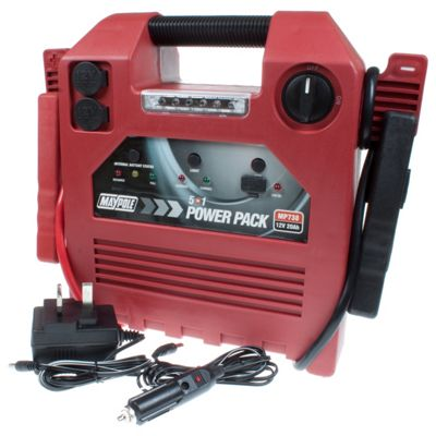 5 In 1 Power Pack / Jump Start, Portable Power, USB Power Supply, Compressor and LED Torch