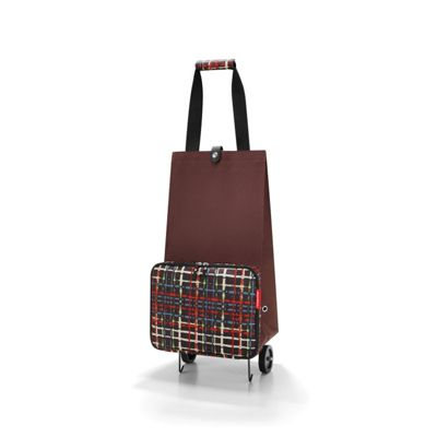 Reisenthel Foldable Basket Trolley with Rollers in Wool Design HK7036