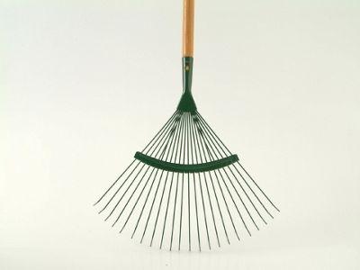 Home Gardener R1673 Lawn Rake Wooden Handle 22 Tooth