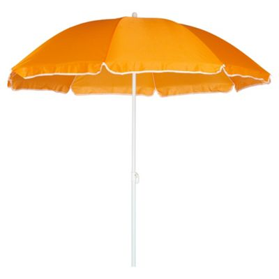 buy tesco beach parasol orange from our garden parasols. Black Bedroom Furniture Sets. Home Design Ideas