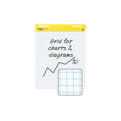 3M Post-it Grid Meeting Chart White Pack of 4 560SS